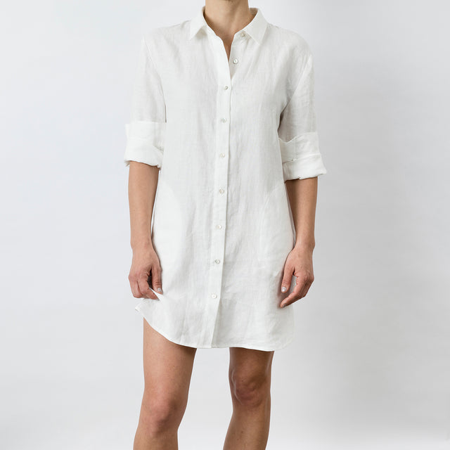 Claude Linen Shirt - White