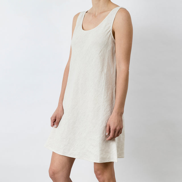 Hana Linen Dress - Natural