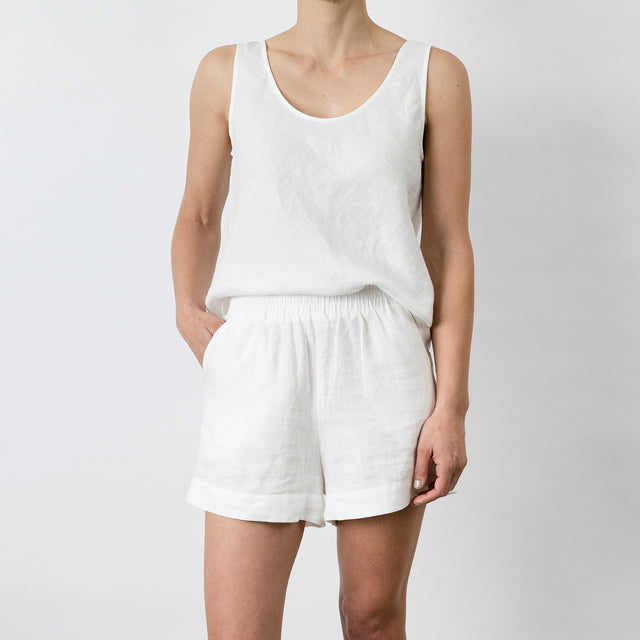 Piper Linen Short - White