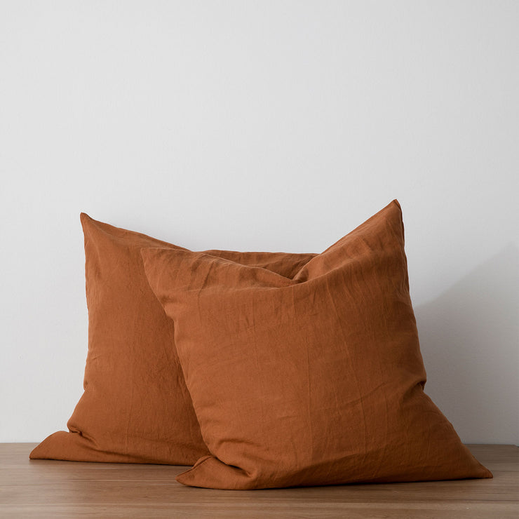 Set of 2 Linen Euro Pillowcases - Cedar