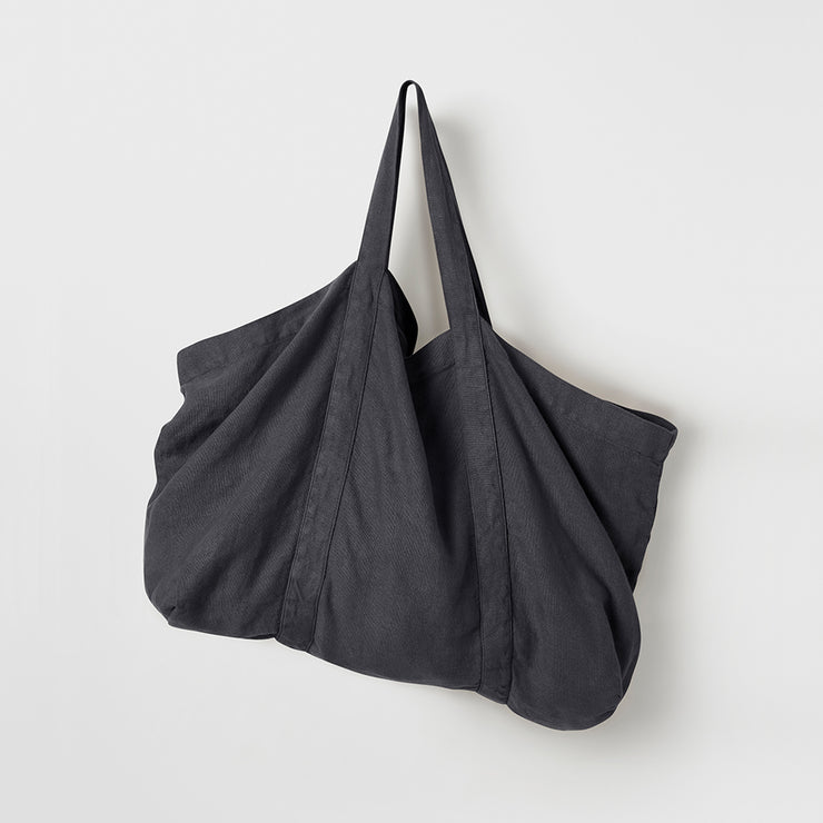 Frankie Linen Bag- Navy