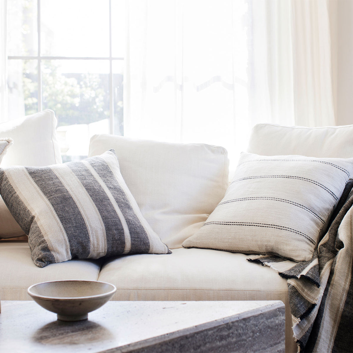 luxury throws and pillows cultiver mira linen cushion cover