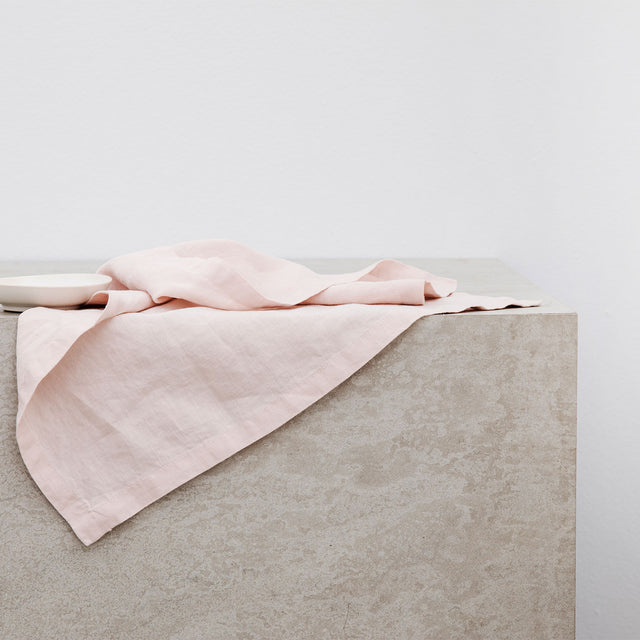 Linen Table Napkins - Blush