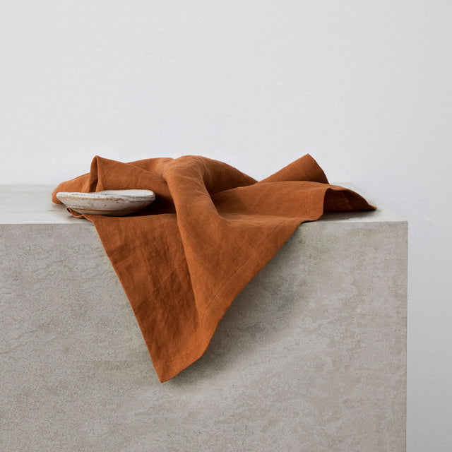 Linen Table Napkins - Cedar
