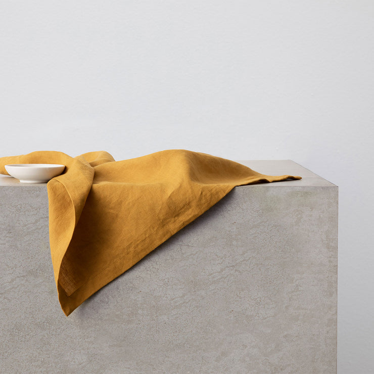 Linen Table Napkins - Mustard