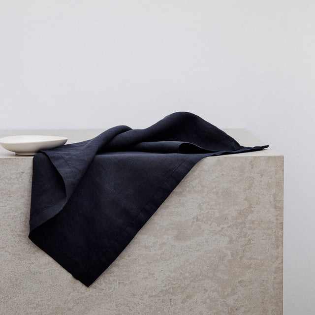 Linen Table Napkins - Navy
