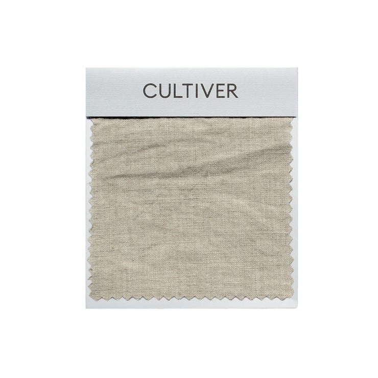 A CULTIVER Linen Swatch in Natural