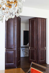 Custom Leather Studded Doors | Designed by Drake / Anderson