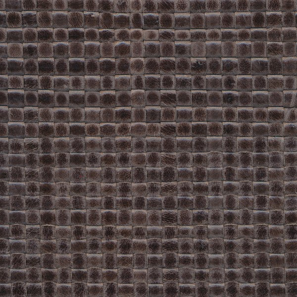 Woven Leather Basketweaves - 111 Dark Gray