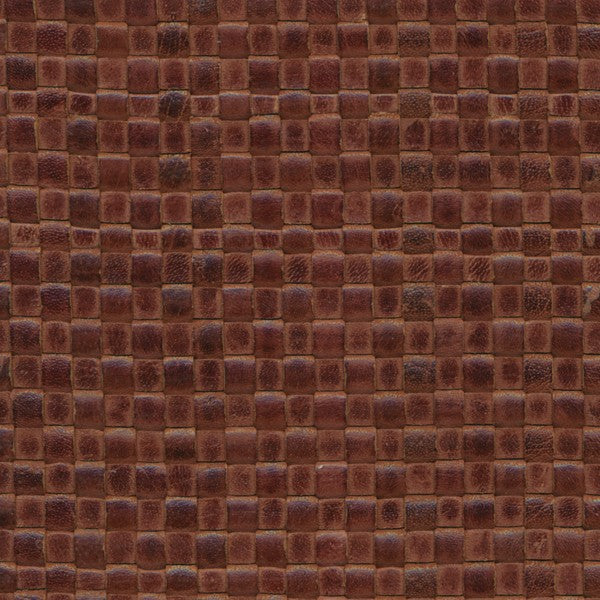Woven Leather Basketweaves - 24. Med Brown