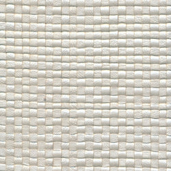 Woven Leather Basketweaves - 60 Off White Pearl