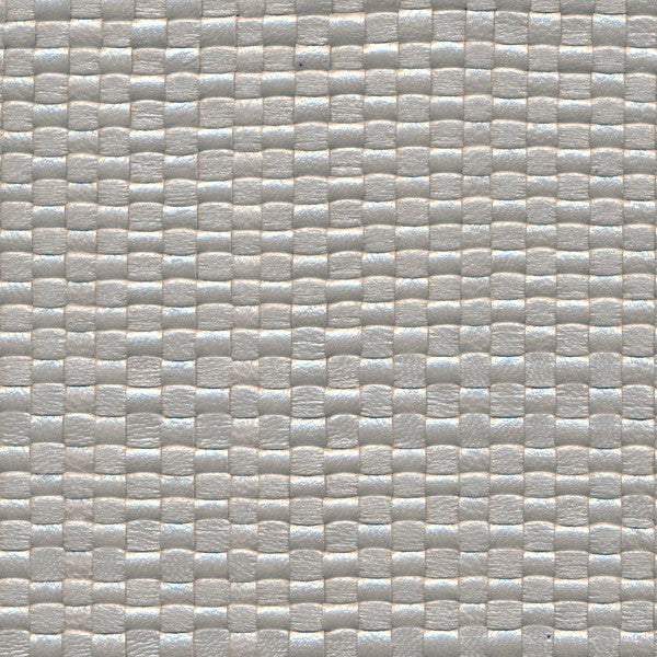 Woven Leather Basketweaves - 66 Silver Pearl