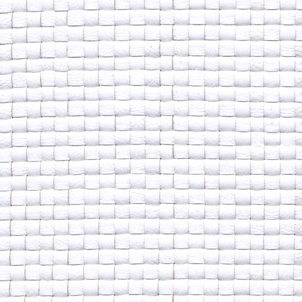 Woven Leather Basketweaves - 01 White