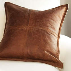 Stitched Leather Pillow