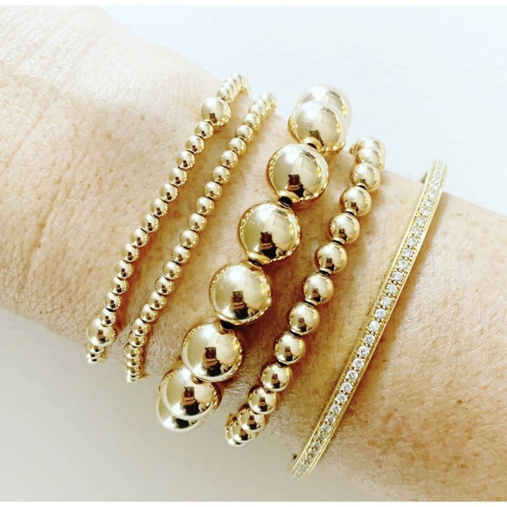 10mm Gold beaded bracelet - Bracelet