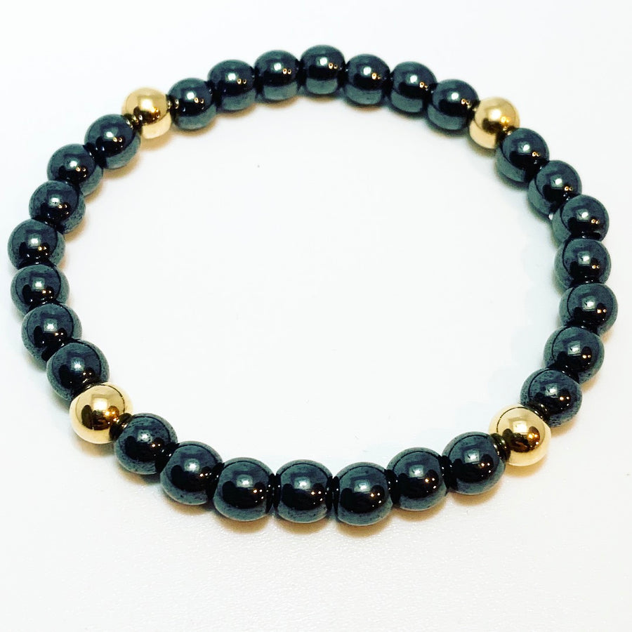 Hematite with Gold Accents