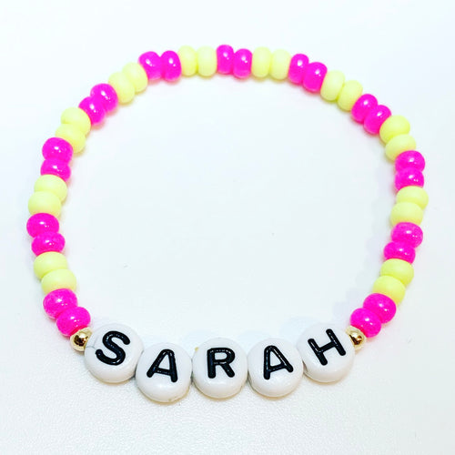 2 Color Name Bracelet