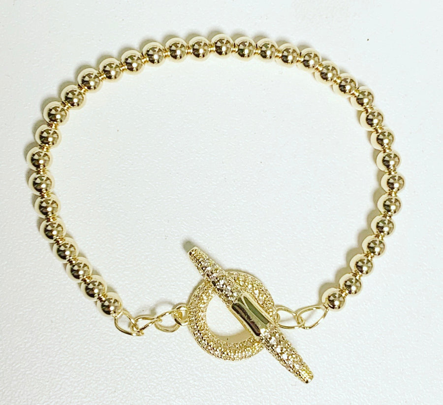 Gold Bracelet with Toggle Clasp