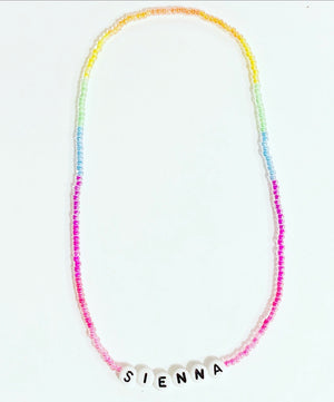 KIDS Neon beaded stretch choker