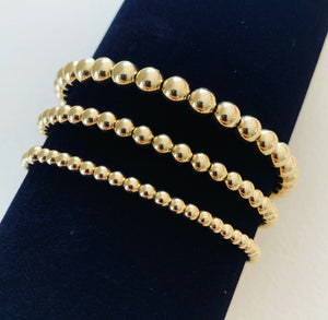 3mm Beaded Stretch Bracelet