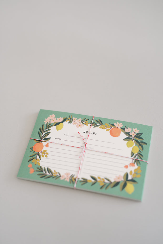 Rifle Citrus Floral Recipe Cards - 12 Count