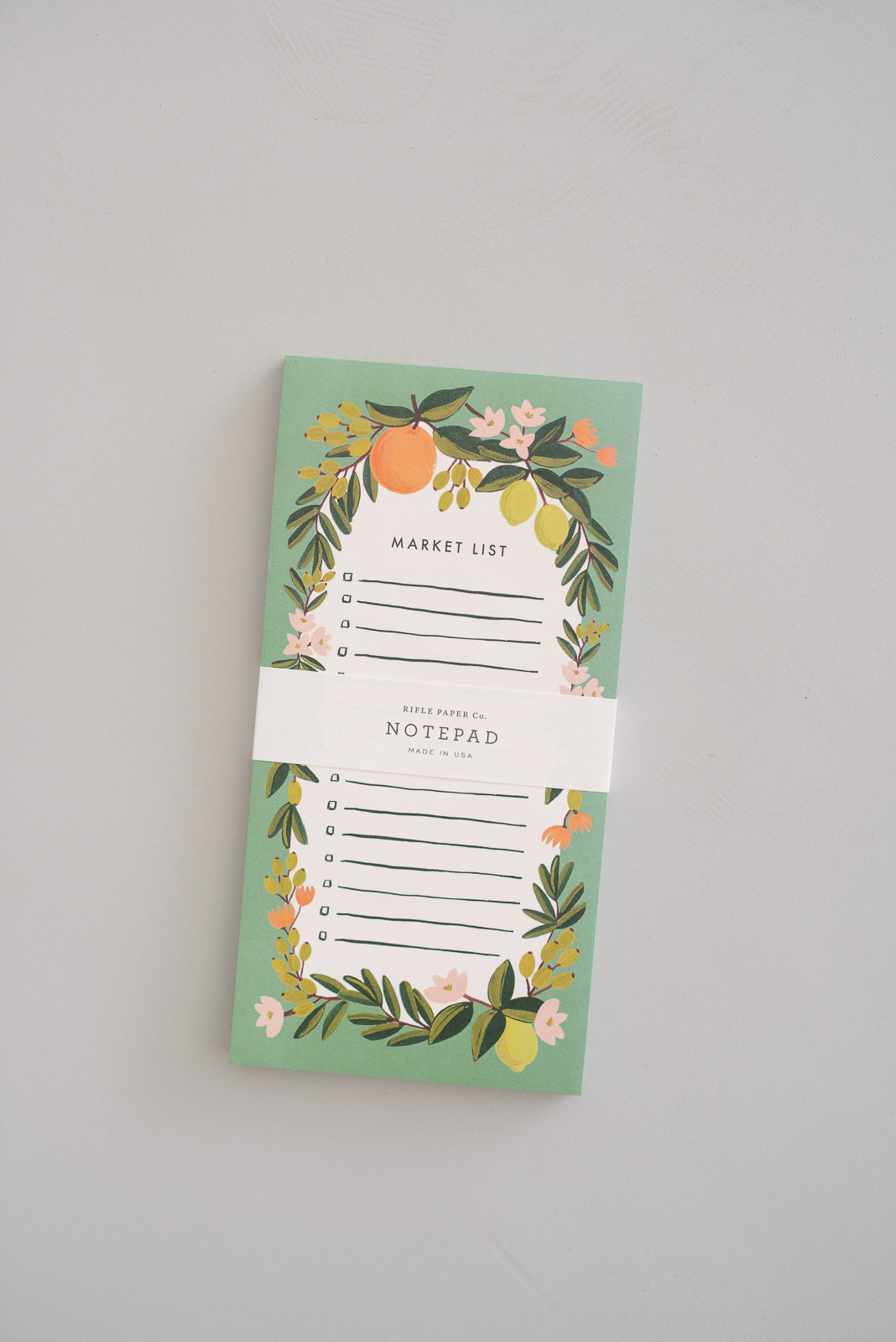 Rifle Citrus Floral Market List Notepad