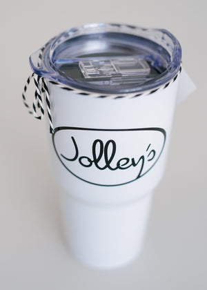 Jolley's White Insulated Tumbler