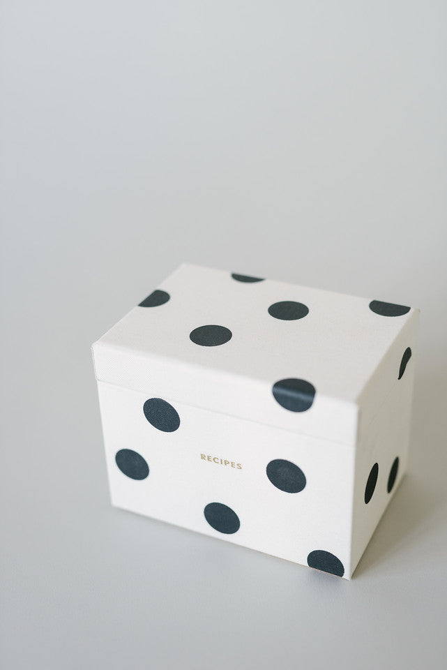 Kate Spade Deco Dot Recipe Box