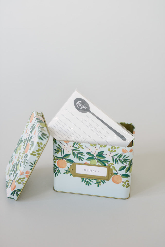 Rifle Citrus Floral Recipe Box