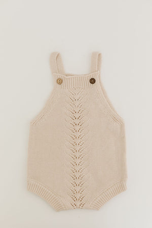 Embellished Cream Knit Romper