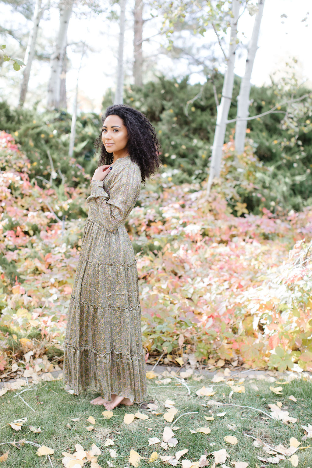 The Olive Paisley Dress