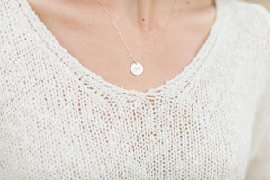 Pinky Promise Disc Necklace 17""