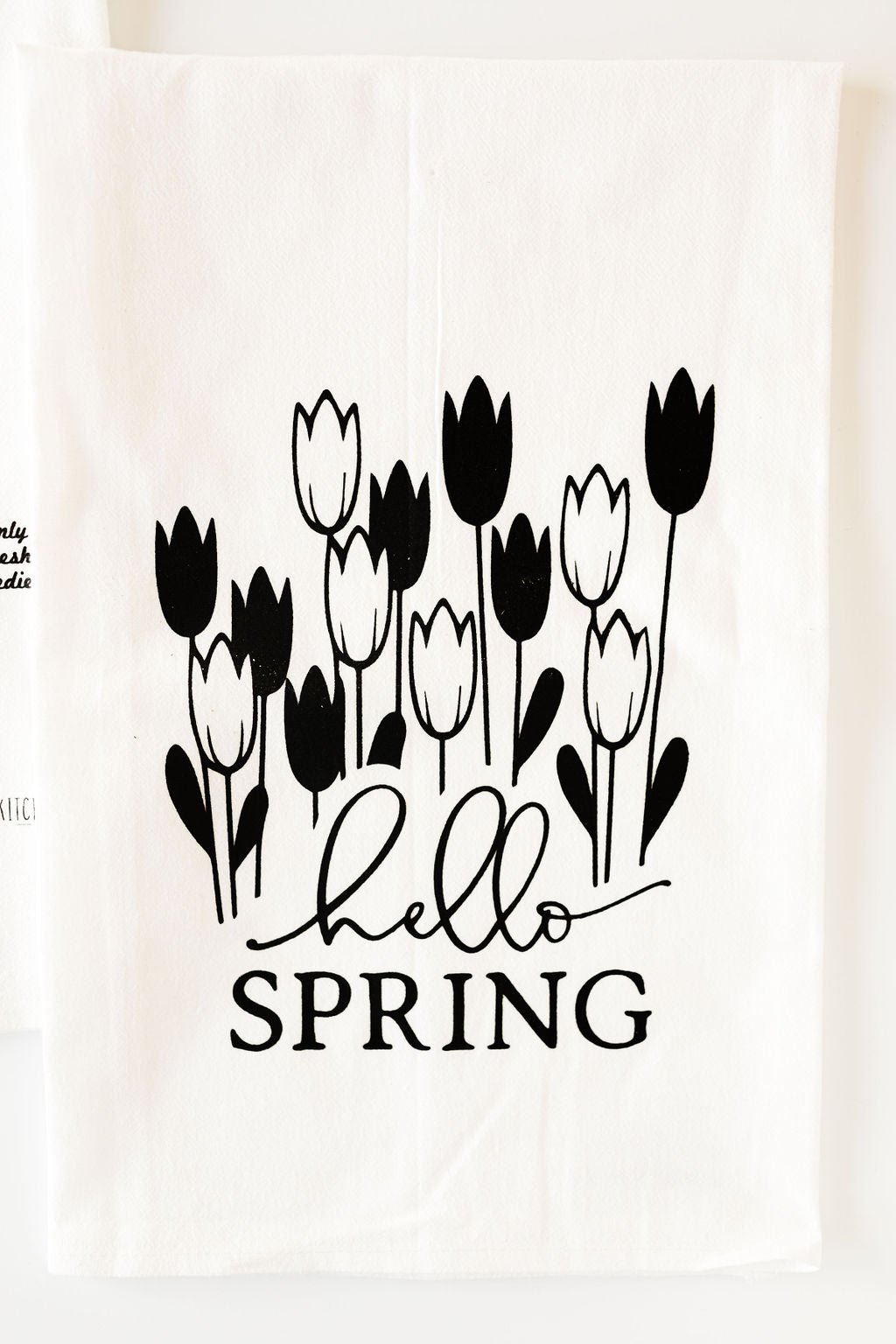 Hello Spring Tulip Tea Towel