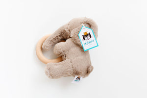 Smudge Elephant Wooden Ring Toy