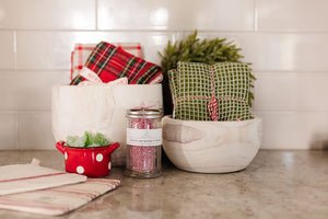 Red & White Bakers Twine in Sugar Jar