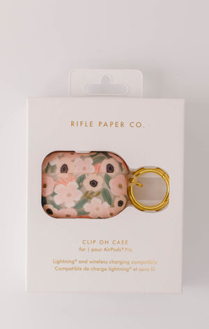 Rifle Paper Co. Clear Wildflowers Airpod Pro Case