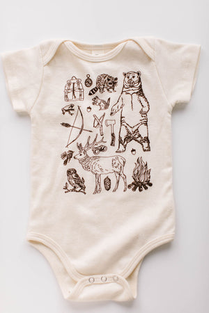 Woodland Organic Cotton Bodysuit