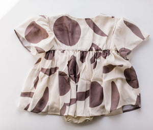 Cream Baby Printed Fit & Flare Dress