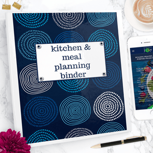 This comprehensive meal planning binder does more than help you organize your meals and recipes - it's a unique, in-depth kitchen reference and meal planning guide too!