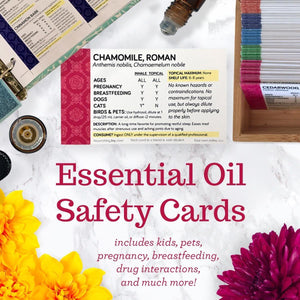 Use essential oils safely and be confident using EOs with these Essential Oil Safety Cards