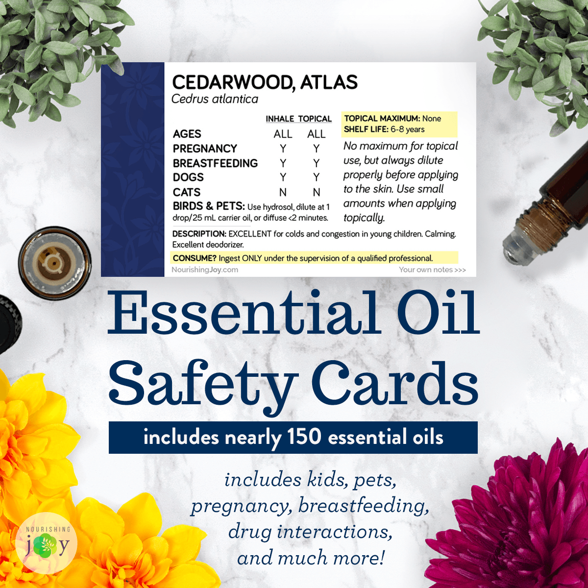Essential Oil Safety Cards