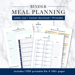 All-in-One Kitchen & Meal Planning Binder