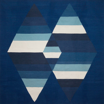 Prism Two Diamond Rug Indigo