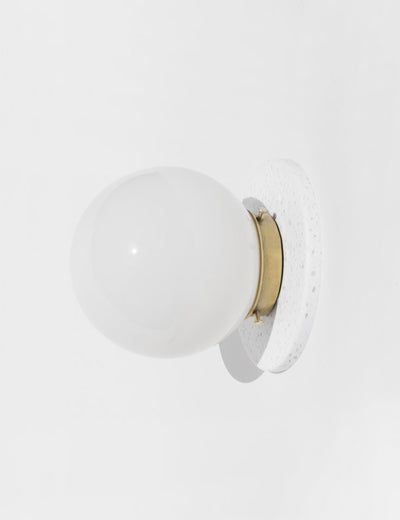 Lunar Sconce Eclipse in White