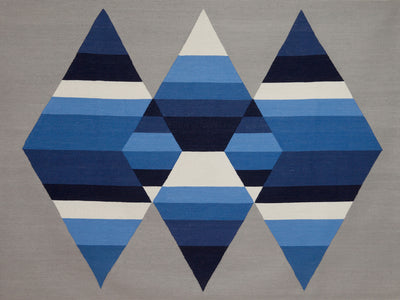 Prism Three Diamond Rug Glacier
