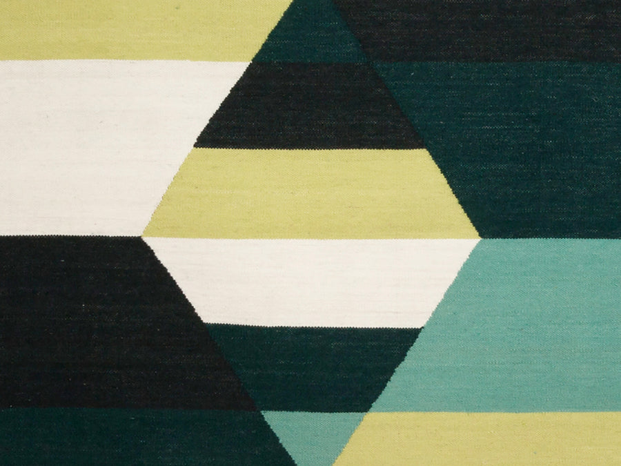 Prism Three Diamond Rug Viridian