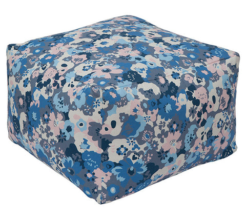 Wildflower Bluebird Pouf
