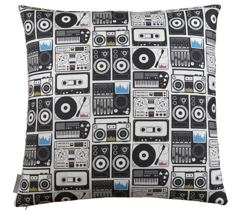 Analog Nights CMYK Pillow