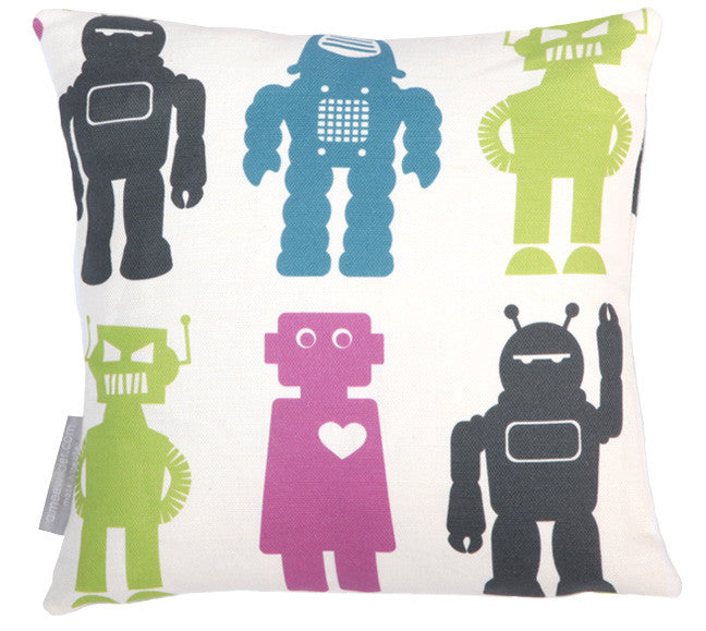 Robots Classic Mini Throw Pillow
