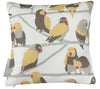 Lovebirds Paradise Mini Throw Pillow